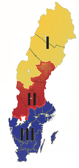 SverigeKarta Klimatzoner
