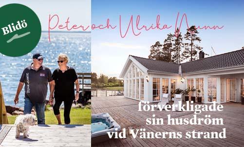 Läs om Peter och Ulrikas husdröm vid Vänerns strand - Blidö 27-115 från Hudikhus